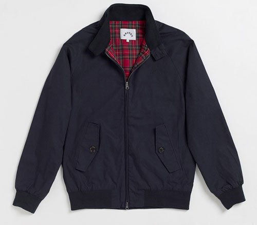 Brutus Harrington Jacket Navy Blue