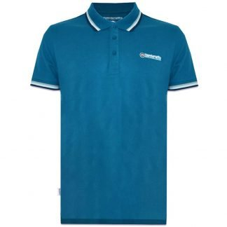 Lambretta 3 Colour Tipping Polo - Teal