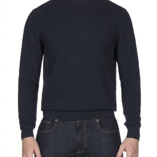 Ben Sherman Navy Chevron Crew Neck Jumper