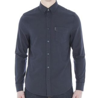 Ben Sherman Navy Long Sleeve Oxford Shirt Regular Fit (Mod Fit)