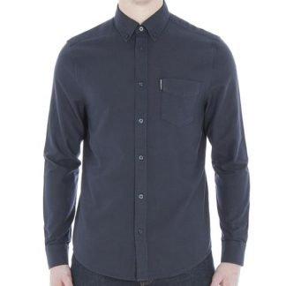Ben Sherman Navy Long Sleeve Oxford Shirt Regular Fit (Mod Fit)