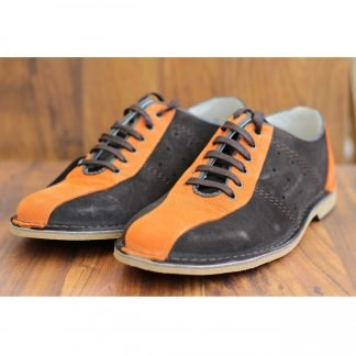 Delicious Junction Watts Bowling Shoe Brown Orange Mod Northern Soul