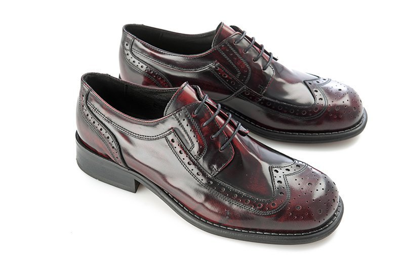 Ikon Original Kromby Bordo Brogue Mod Northern Soul
