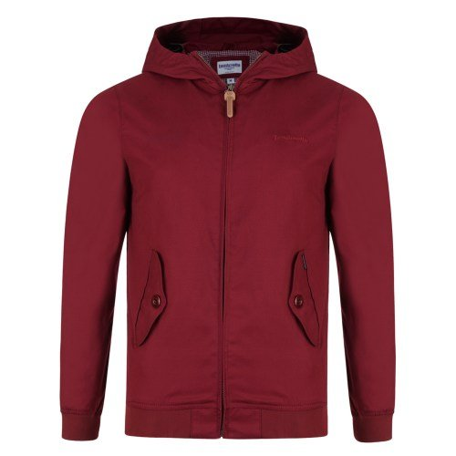 LAMBRETTA PREMIUM HOODED HARRINGTON-BURGUNDY