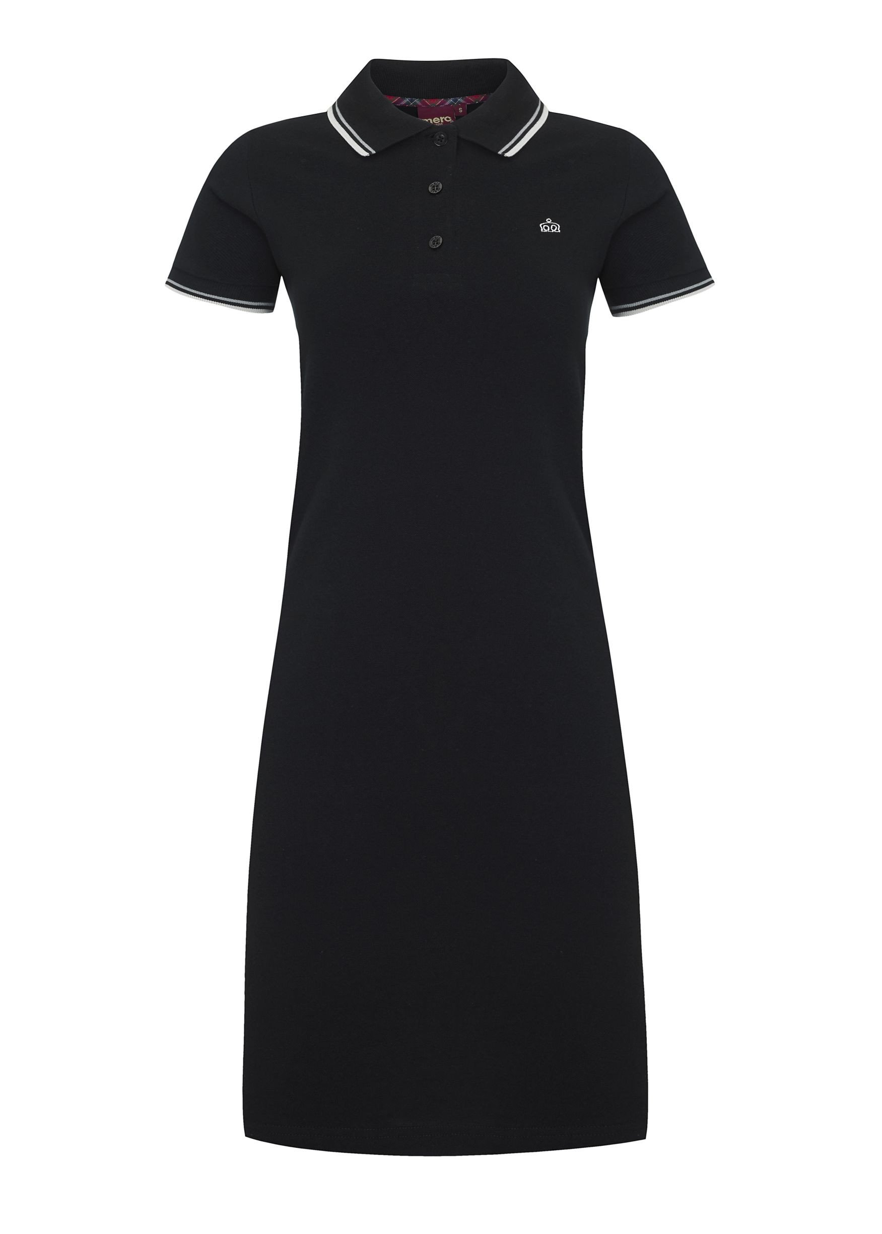 Merc Kara polo dress Black