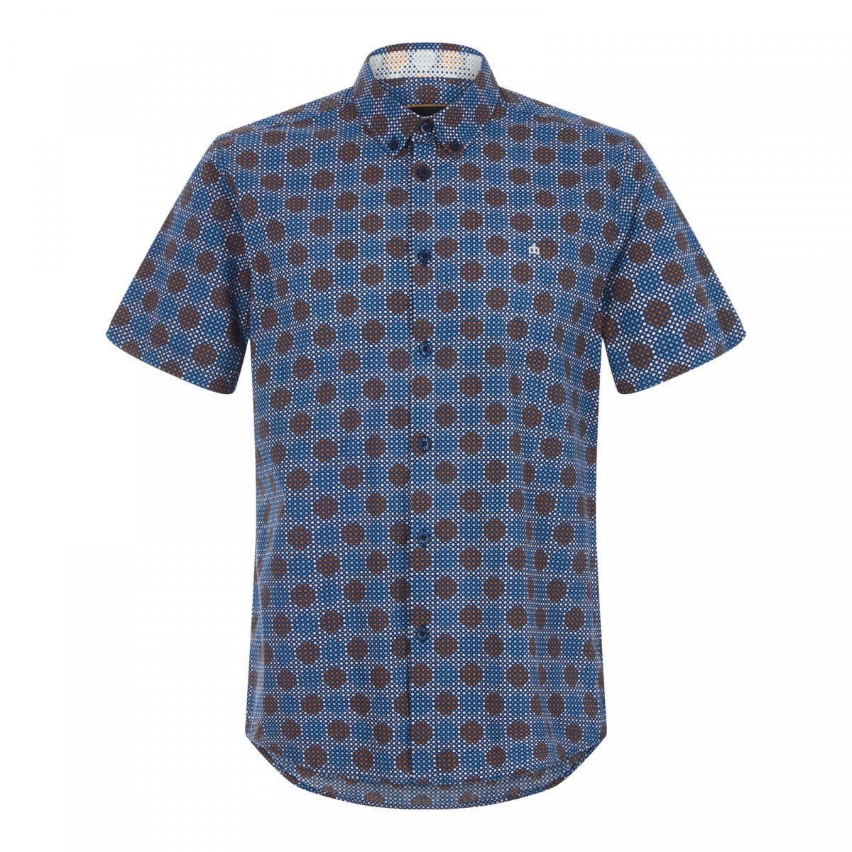 Merc Caspian retro polka-dot short sleeve shirt